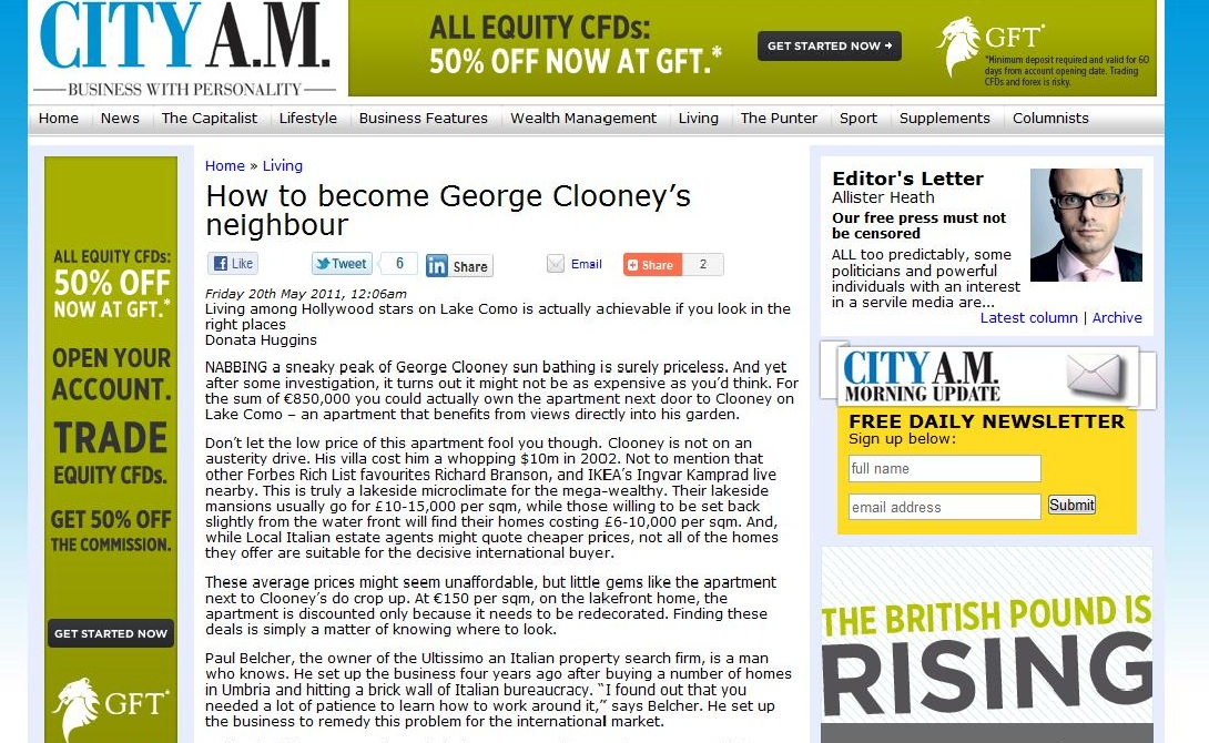 City AM - George Clooney's Neighbour