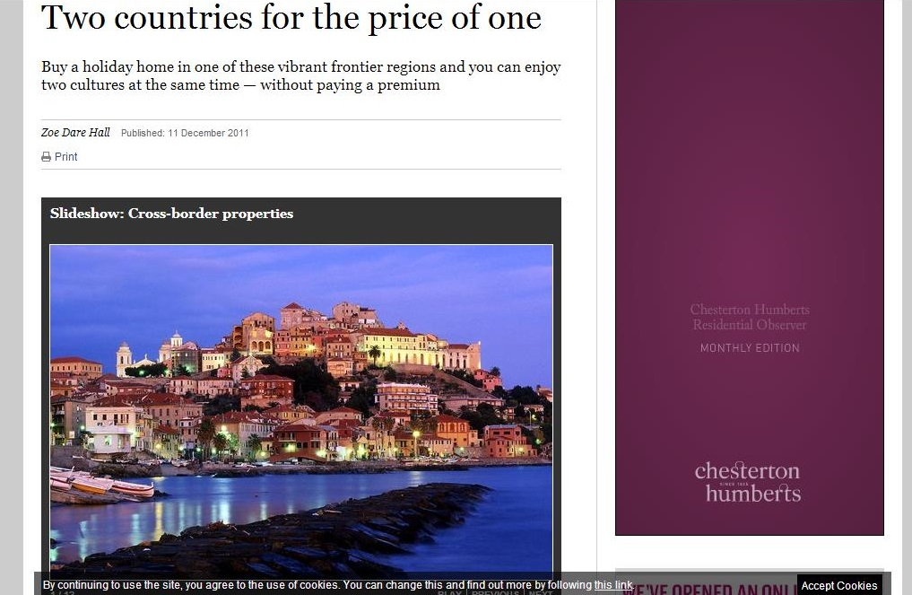 The Sunday Times - Two Countries for the price of one