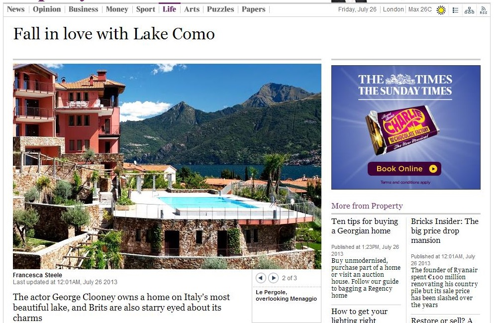 The Times - Fall in Love with Lake Como