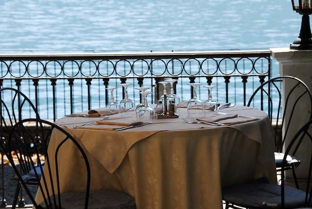 Dining by Lake Como