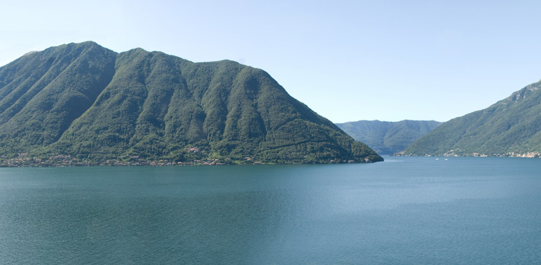 Stunning view of mountains rising from Lake Como