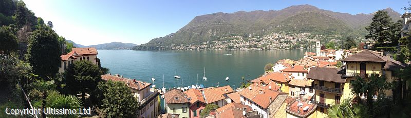 View of Lake Como from Argegno