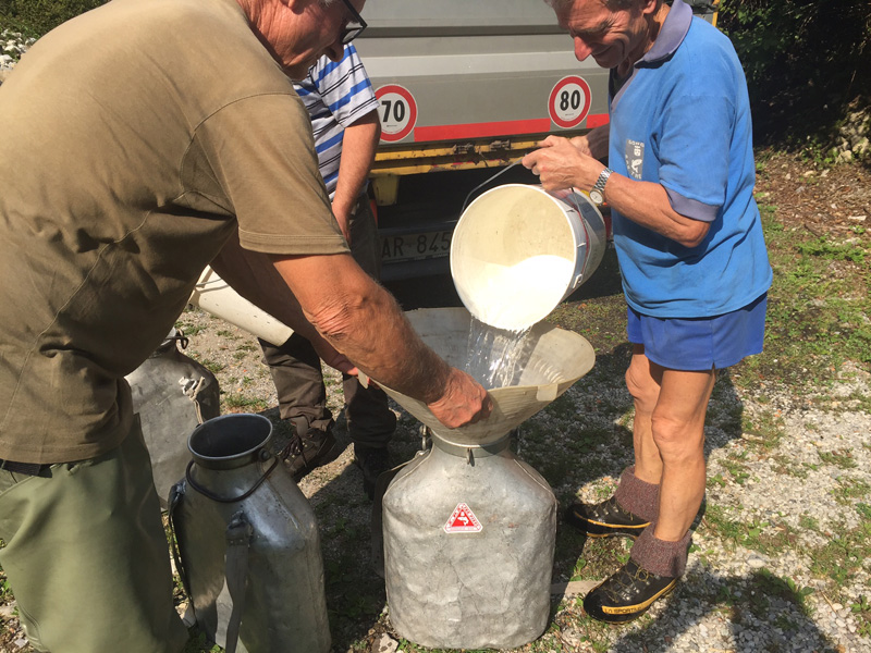 Filling containers with water