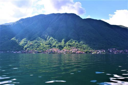 View of the shore from on Lake Como