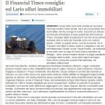 Provincia di Como – featured in Financial Times