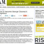 City AM – George Clooney's Neighbour