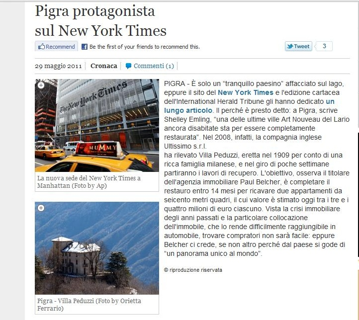 Pigra renovation by Ultissimo feature, Provincia
