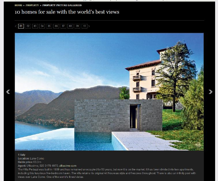 property development feature, Daily Telegraph - World's Best Views