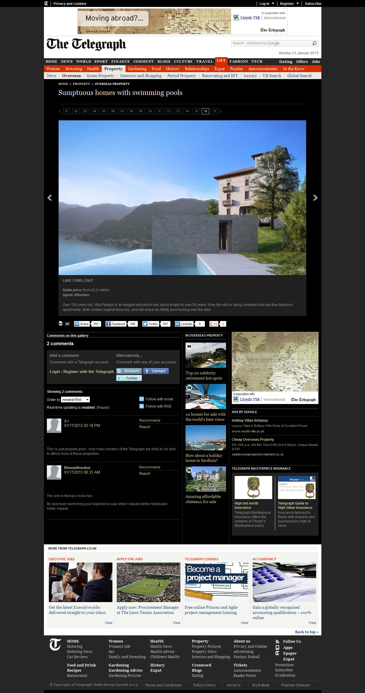 Biazzeno Lake Como property development, Daily-Telegraph-Online