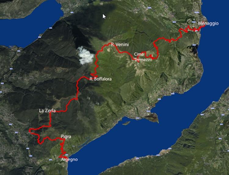 Lake Como marathon from Argegno to Menaggio