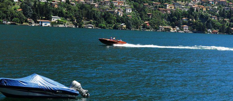 Speed boat Lake Como